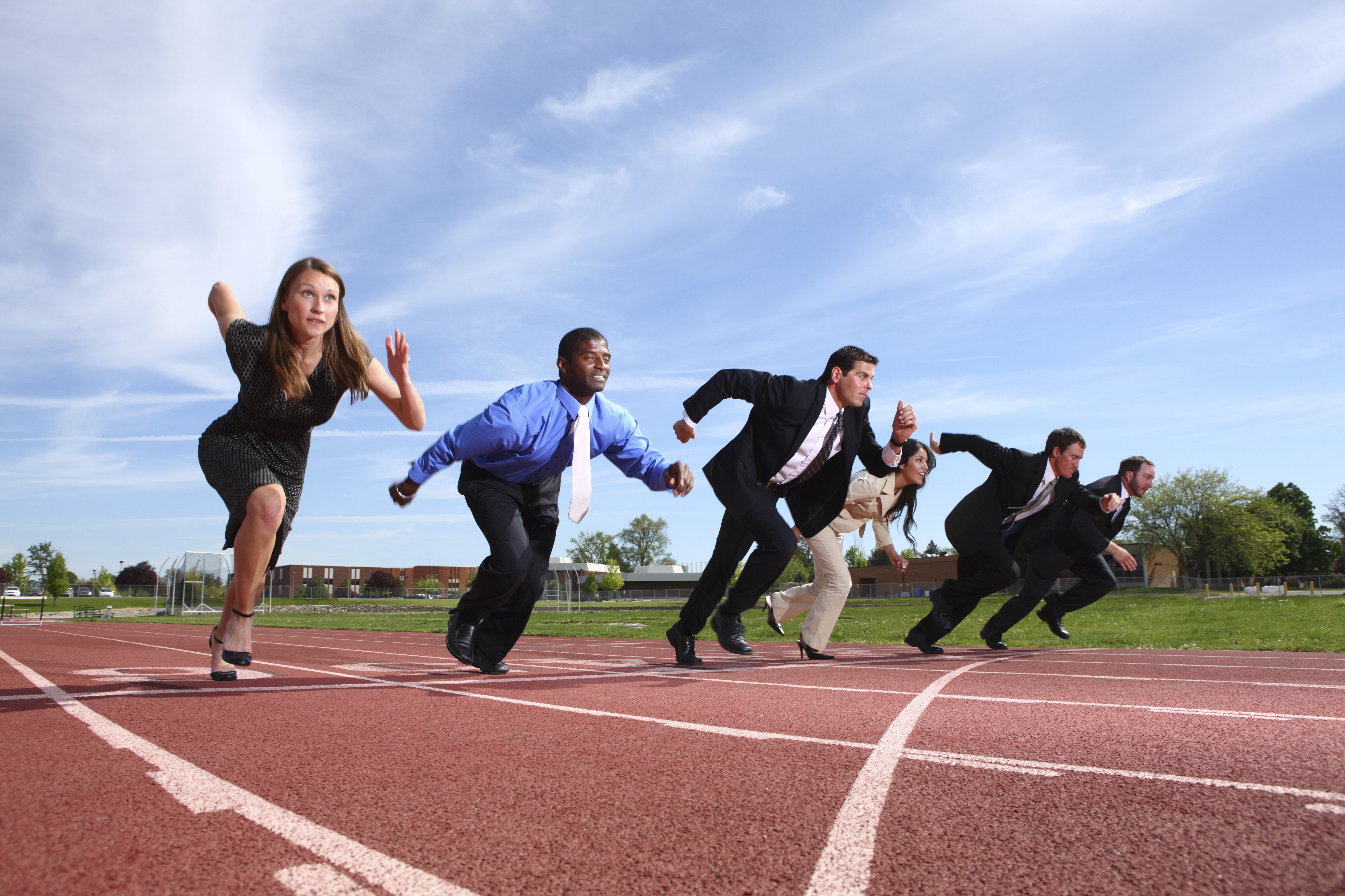Business People Sprinting