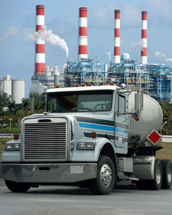 Gas Truck at Refinery